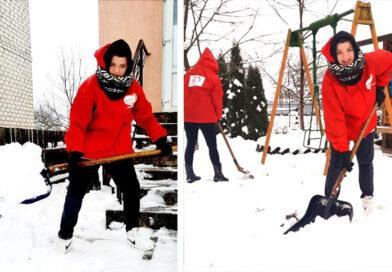 Зимний челлендж по уборке снега