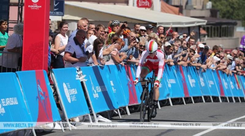 Белорусский велосипедист Василий Кириенко выиграл гонку с раздельным стартом на II Европейских играх (+видео)