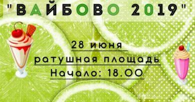 28 июня в Несвиже на Ратушной площади состоится молодежный фестиваль «Вайбово-2019»
