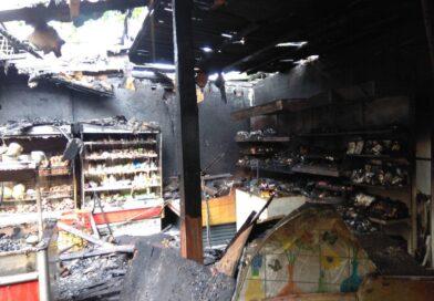 В Несвиже сгорел продуктовый магазин