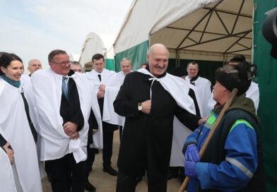 Рабочая паездка Лукашэнкі ў Смалявіцкі раён