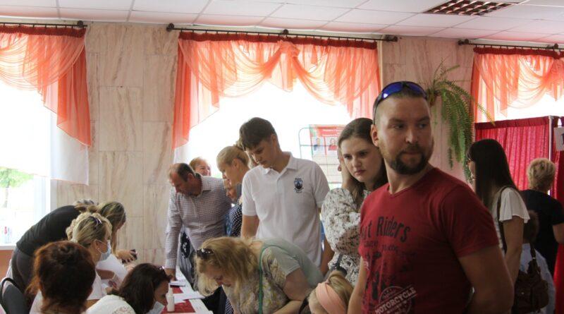 На Паўднёвым участку для галасавання № 6 па выбарах Прэзідэнта Рэспублікі Беларусь
